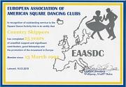 2018-03-10 Urkunde für 25 Jahre Mitgliedschsft in der EAASDC