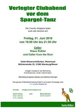 2018-06-01 Verlegter Clubabend©Country Skippers - Square Dance Club Wietzen