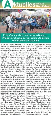 2018-07-01 Die Harke am Sonntag Auftritt Sommerfest Stolzenau