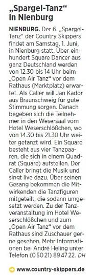 2019-05-21 Die Harke Spargel-Tanz Ankündigung