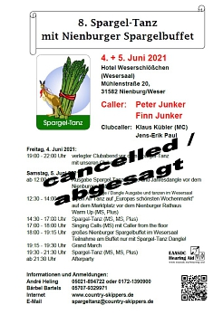 2021 Absage Spargel-Tanz © Country Skippers - Square Dance Club Wietzen