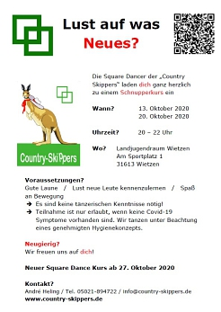 Class Flyer 2020 © Country Skippers - Square Dance Club Wietzen
