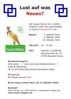 Lust auf was Neues?©Country Skippers - Square Dance Club Wietzen