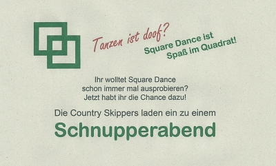 Square Dance Schnupperabende im September 2017