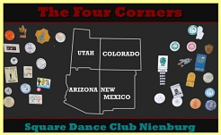The Four Corners Logo © Country Skippers - Square Dance Club Wietzen