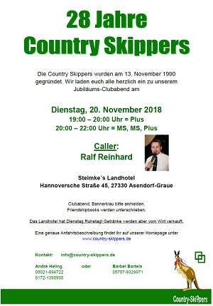 2018-10-20 Flyer 28 Jahre Country Skippers